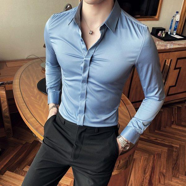British Style Spring Business Shirts5