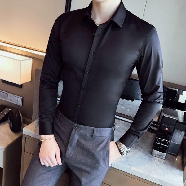 Business Shirts Men Fashion Dress