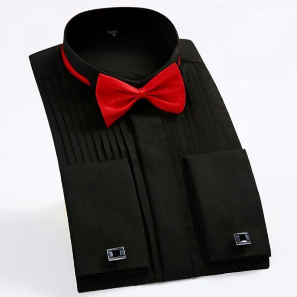 France Cufflinks Mens Tuxedo Shirts6