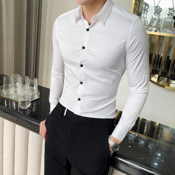 High Quality Silk Shirt Men
