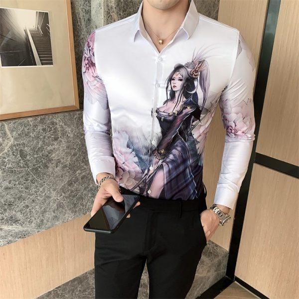 Korean Sexy Girl Print Shirts