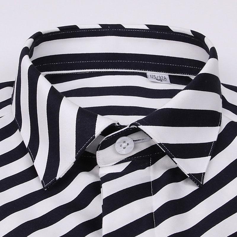 Luxury Cotton Striped Dress Shirt