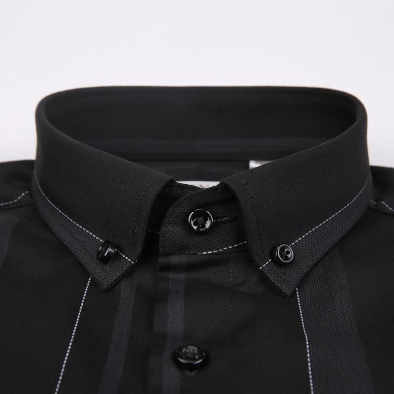 Men Fashionable Striped Dress Shirts6