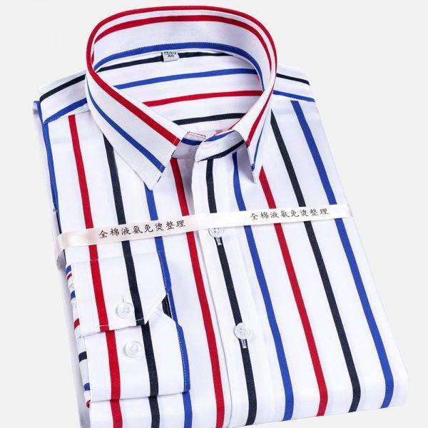 Men Formal Social Striped Shirts