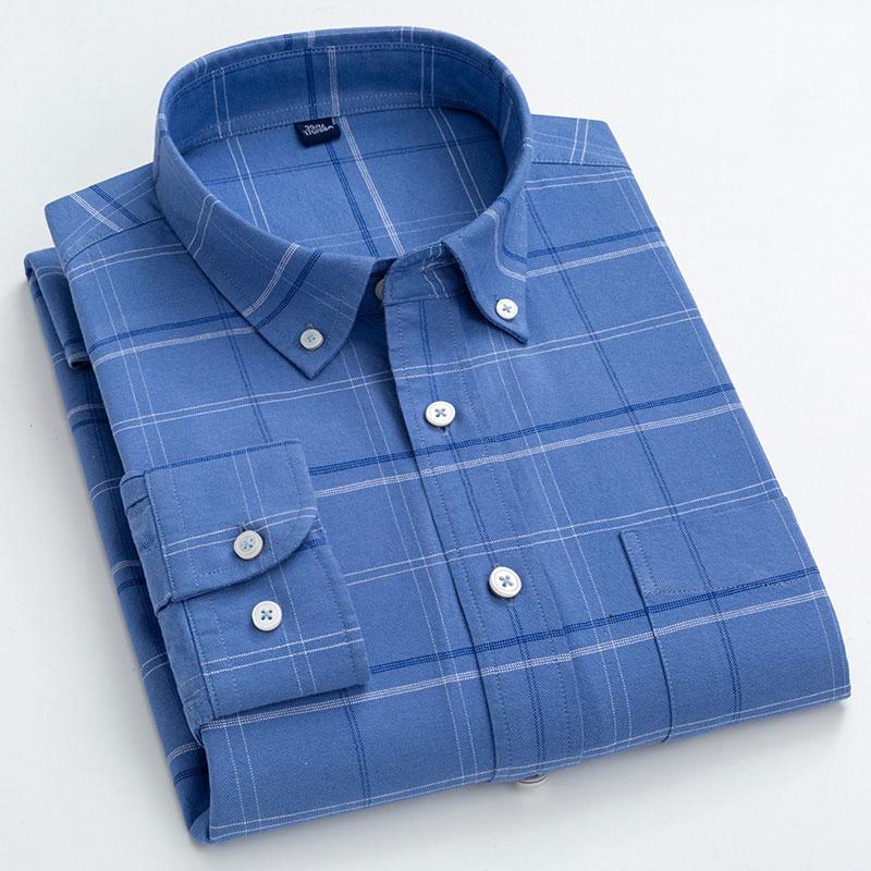 Plaid Cotton Fashion Patterned Shirt6
