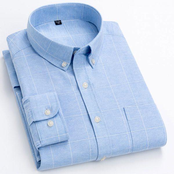 Plaid Striped Fashion Leisure Shirt6
