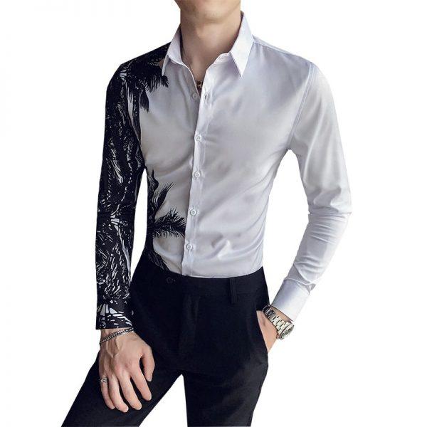 Spring Club Tuxedo Printed Shirts5
