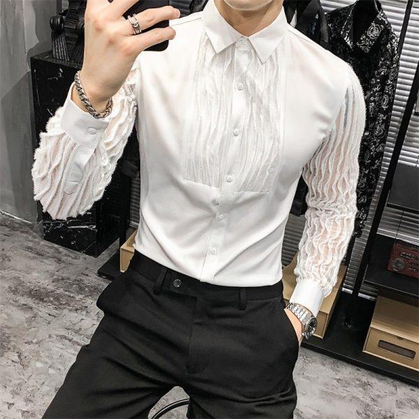 Spring Korean Lace Spliced Shirts