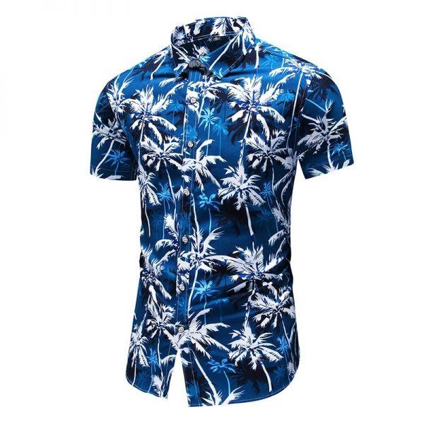 Beach Hawaiian Shirt Men Fashion