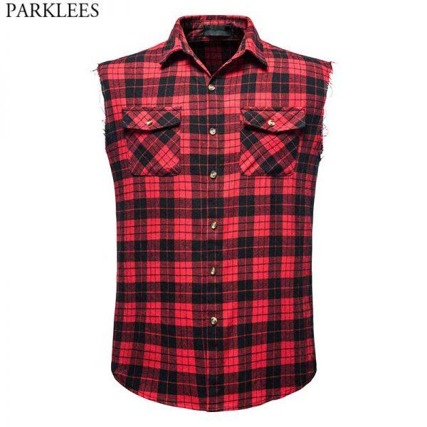 Men Casual Flannel Plaid Shirt6