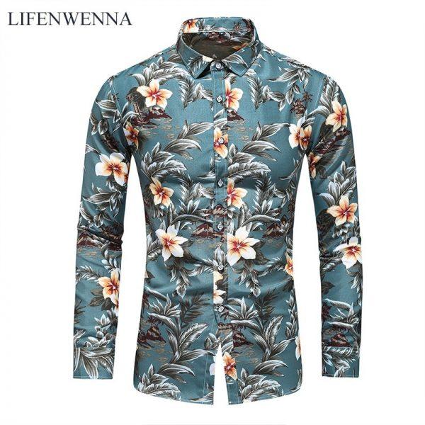 Men Fashion Office Floral Shirts