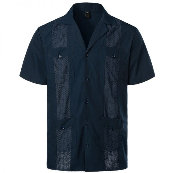 Premium Embroidered Pleated Shirt
