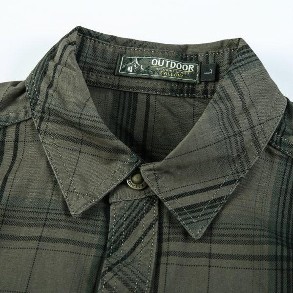 100% Cotton Casual Plaid Shirt