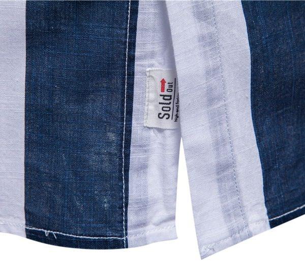 100% Cotton Striped Linen Shirt