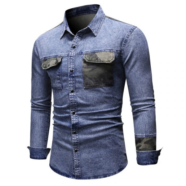 Casual Camouflage Long Sleeve Shirts