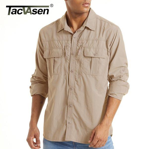 Zipper Pockets Tactical Shirt
