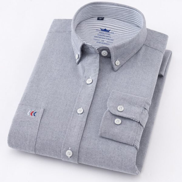 Man Cotton Shirts Luxury Vocational Shirt